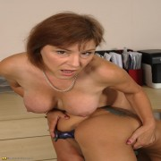 kinky mature trainster giving her pupil lesbian hell